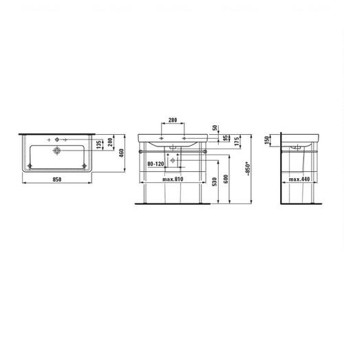 Умывальник Laufen PRO S 85 (H8169650001041)