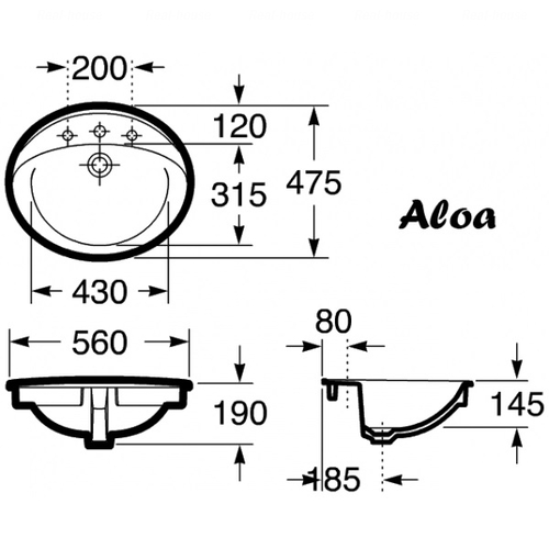 Умывальник Roca Aloa 56 (A327865000)