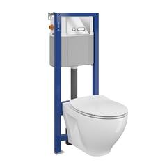 Унитаз Cersanit Moduo Clean On + инсталляция Cersanit Aqua 22 (S701-394)