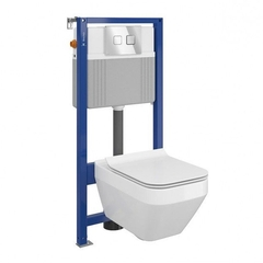 Унитаз Cersanit Crea Clean On + инсталляция Cersanit Aqua 52 (S701-395)