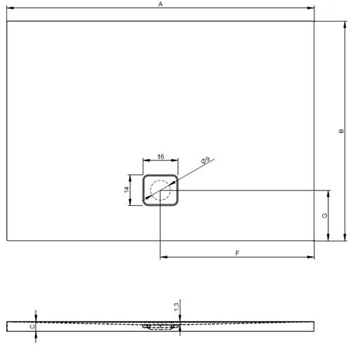 Душевой поддон Riho Basel 423 170х75 (DC33)