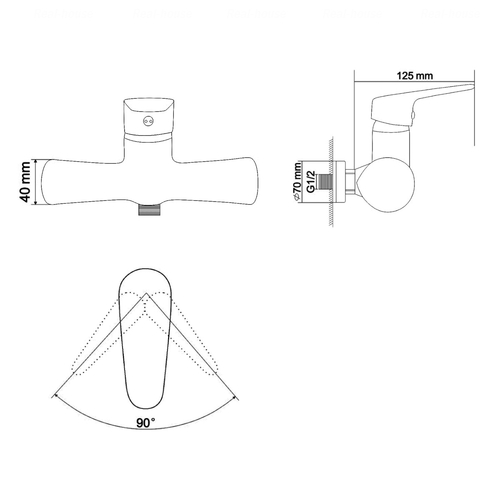 Набор смесителей для ванны Rozzy Jenori Butterfly RBZ074-1-3-0511