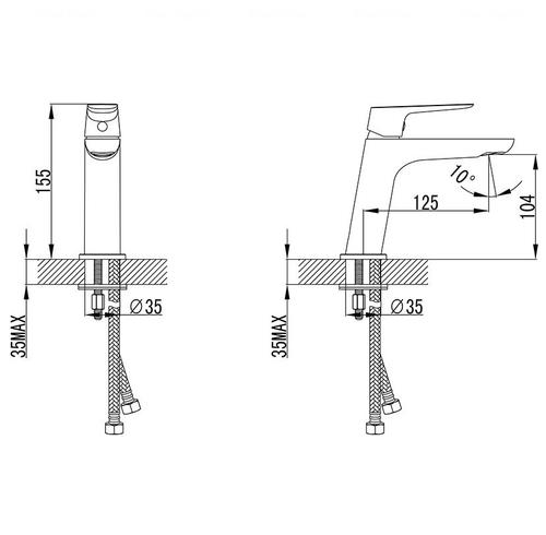 Смеситель для умывальника Ravak CL 012.00 (X070080)