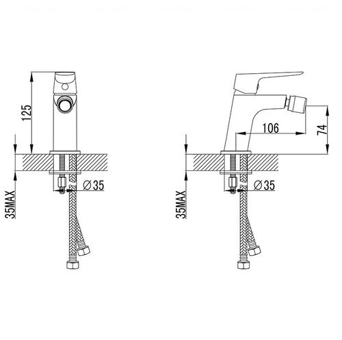 Смеситель для биде Ravak CL 055.00 (X070082)
