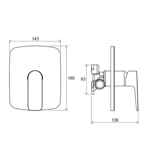Смеситель для ванны или душа Ravak CL 066.00 (X070089)
