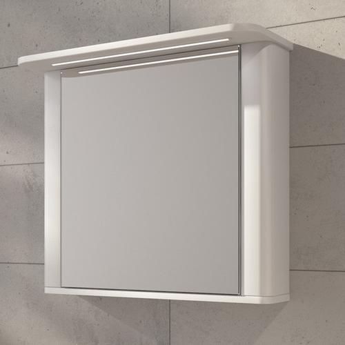 Шкафчик зеркальный Fancy Marble MC Carla 800 (ШЗ-Carla) белый матовый белый матовый