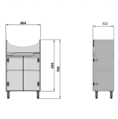 Тумба Nautilus Prime под умывальник Cersania 50 (Pm C-50)