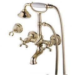 Смеситель для ванны и душа Devit Charlestone золото CN60012119G