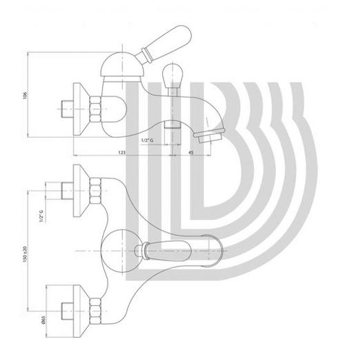 Смеситель для ванны и душа Bianchi Class Wood (VSCCLW200400CRW)