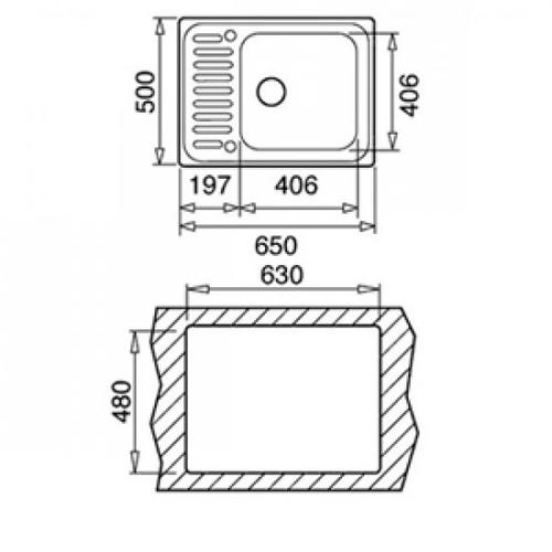 Кухонная мойка Teka Classic 1B микротекстура (40109611)