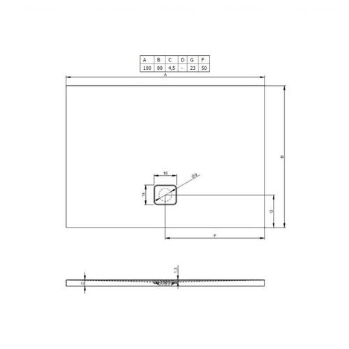 Душевой поддон Riho Basel 404 100х80 (DC14) белый белый