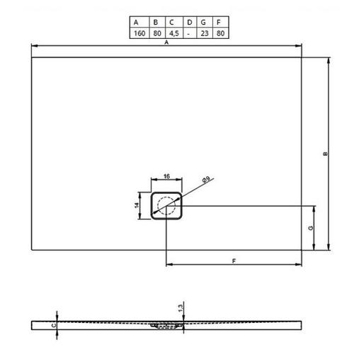 Душевой поддон Riho Basel 410 160х80 (DC20)
