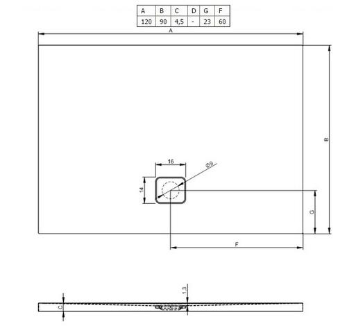 Душевой поддон Riho Basel 416 120х90 (DC26) белый белый