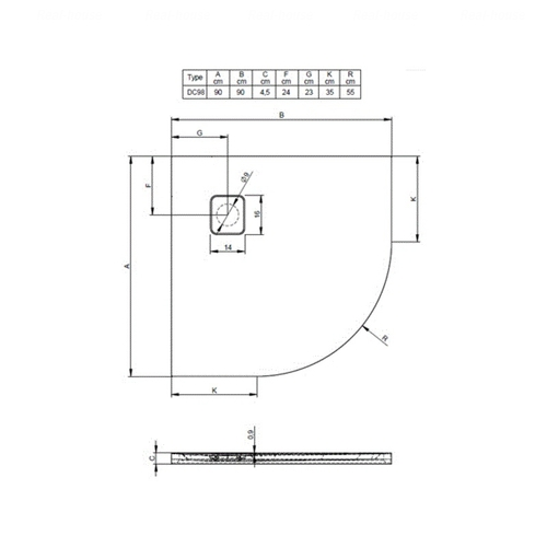 Душевой поддон Riho Basel 451 90х90 (DC98) белый белый