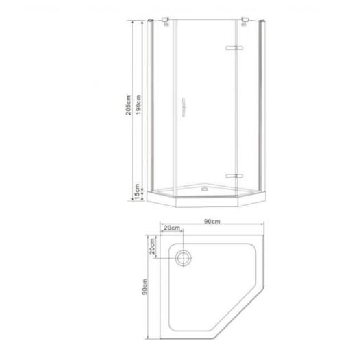Душевая кабина Eger Stefani 100х100х194 см, с поддоном (599-535-100)