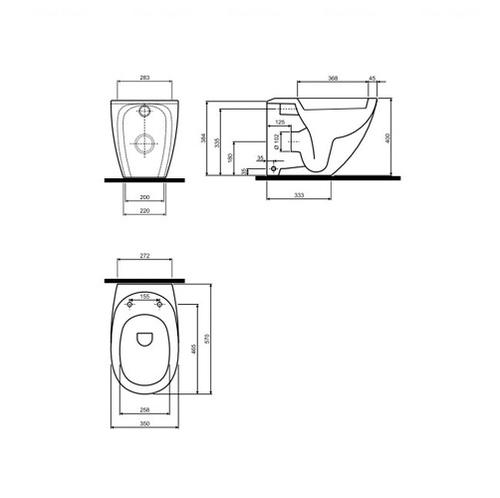 Унитаз подвенсой Kolo EGO by Antonio Citterio обычное покрытие обычное покрытие