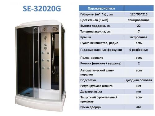Гидромассажный бокс Serena SE/EW-32020G