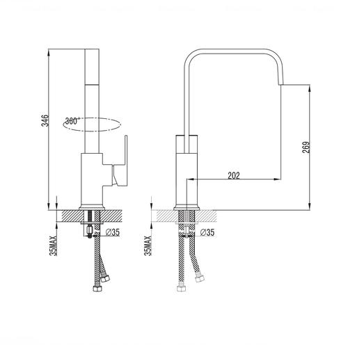 Смеситель для кухни Imprese Elanta (55450)