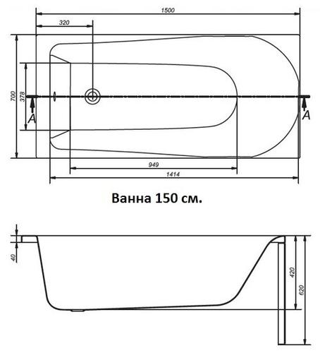 Ванна Cersanit FLAVIA 150x70