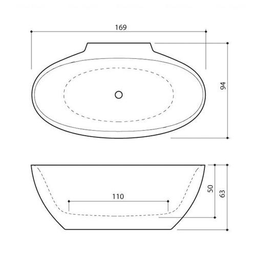 Ванна Balteco Flo CW 1690 мм