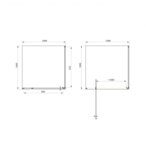 Душевая кабина Primera Frame 100 прозрачное стекло SHRC56106