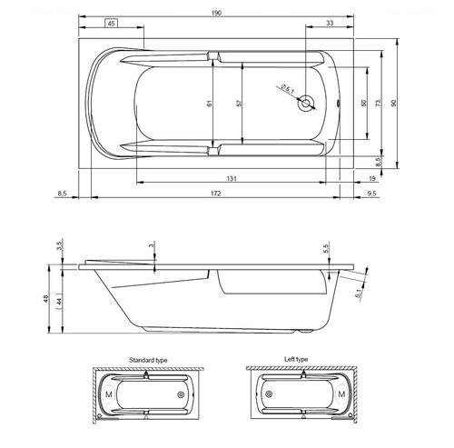 Ванна Riho Future XL 190x90 (BC3200500000000)