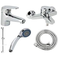 Набор смесителей для ванны и душа Genebre GE2 04GE2V17RO