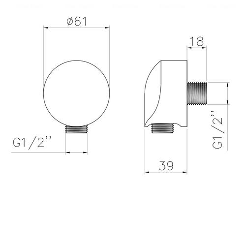 Шланговое подсоединение Imprese HC01