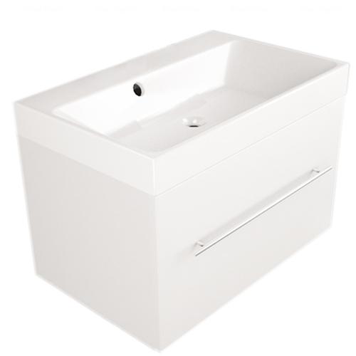 Тумба с раковиной Fancy Marble Corsica 70 (ШН 700 + 0407101) белый глянец белый глянец