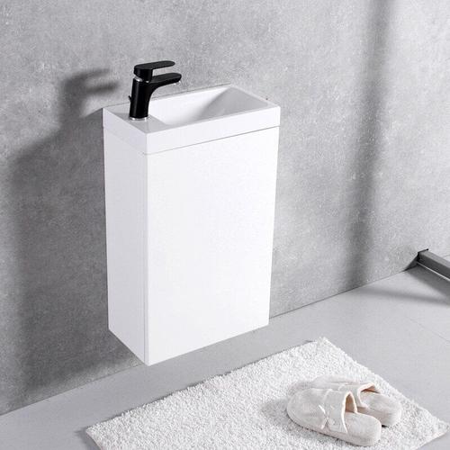 Тумба с раковиной Fancy Marble Java 40 (ШН 400 + 1704101) белая глянец белая глянец