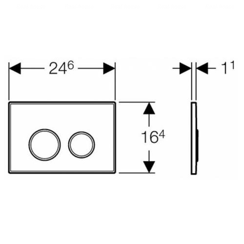 Кнопка смыва Geberit Sigma 20, пластик белый/хром глянцевый/белый белый/хром глянцевый/белый