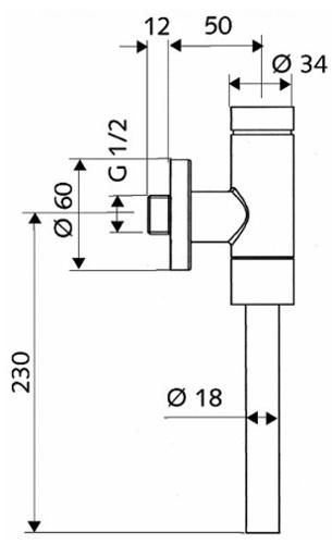Клапан сливной Schellomat Basic Kolo (96017000)