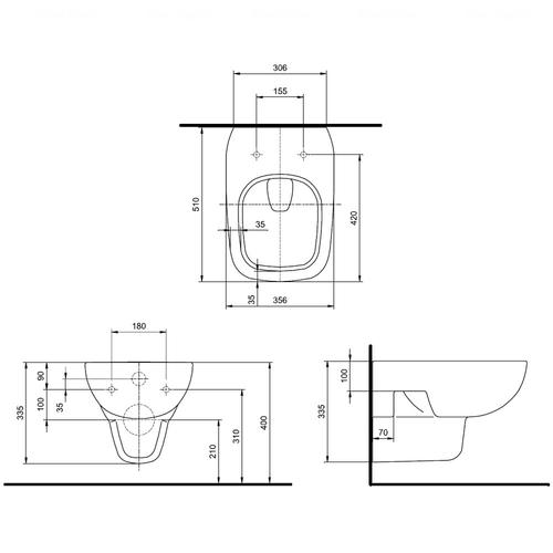 Унитаз Kolo Style Rimfree + инсталляция Geberit Duofix 3в1 (L23120000 + L20112000 + 458.126.00.1)