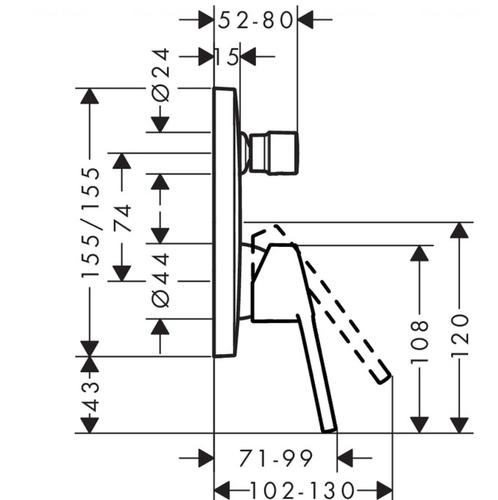 Смеситель для душа Hansgrohe Logis Loop (71267000)