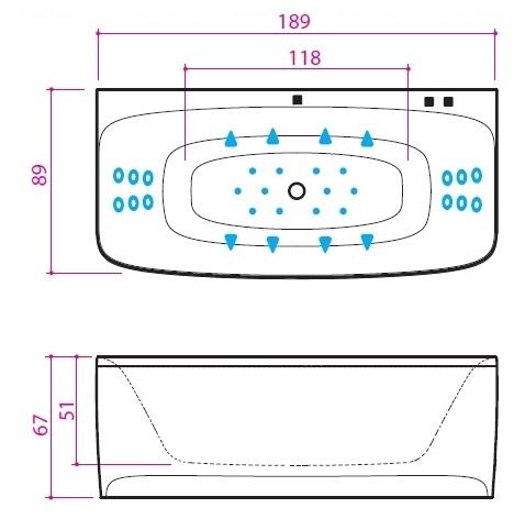 Ванна Balteco Loop 1880 мм простая (S1) простая (S1)
