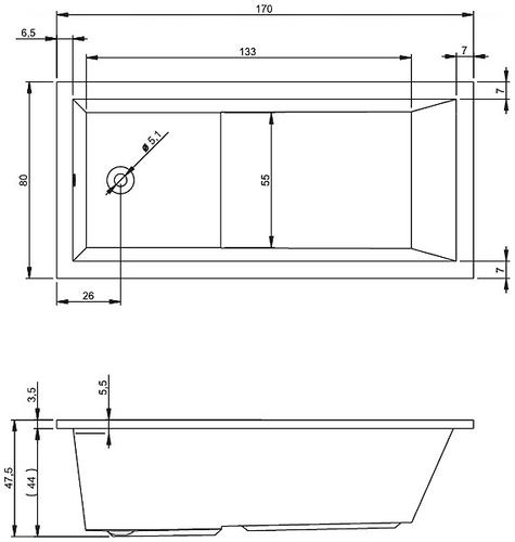 Ванна Riho Lusso Plus 170x80 (BA1200500000000)