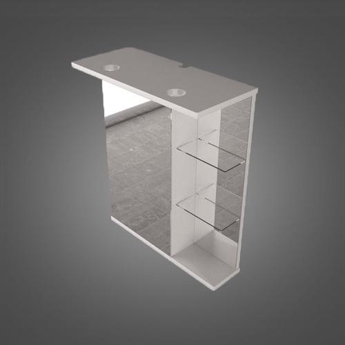 Шкафчик зеркальный с диодной подсветкой ШЗ-8  белый/венге/серый белый/венге/серый