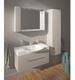 Шкафчик зеркальный Fancy Marble MC-980 (ШЗ-980) белый/венге/серый белый/венге/серый