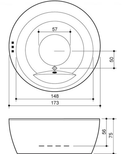 Ванна Balteco Madonna 1700 мм простая (S1) простая (S1)