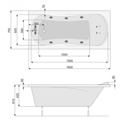 Ванна Pool Spa Muza 170 (PWPH310ZN000000)