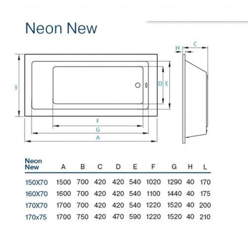 Ванна Koller Pool Neon new 170х70