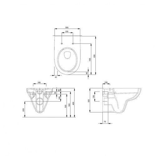 Комплект: унитаз Kolo Nova Pro Rimfree с сиденьем + инсталляция Geberit Duofix 3в1 (M33120000 + M30112000 + 458.126.00.1)
