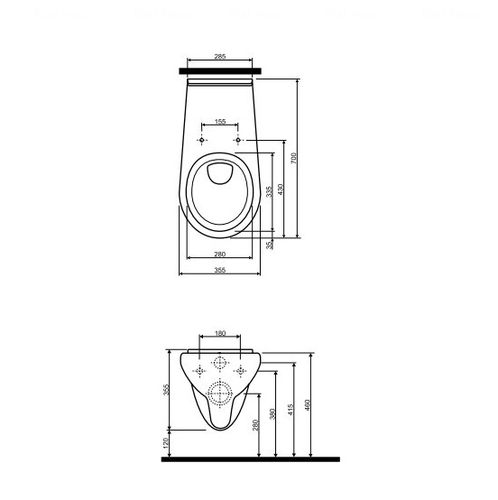 Унитаз подвесной Kolo Nova Pro, для инвалидов (M33500000)