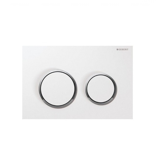 Кнопка смыва Geberit Omega 20 белый/ хром глянец / белый белый/ хром глянец / белый