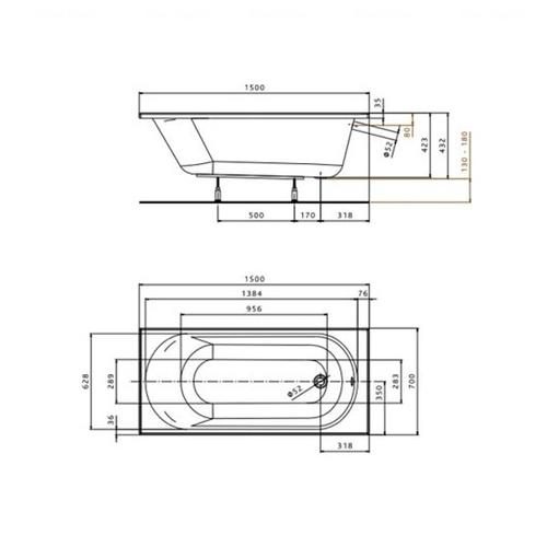 Ванна Kolo Opal Plus 150x70 (XWP135000N)