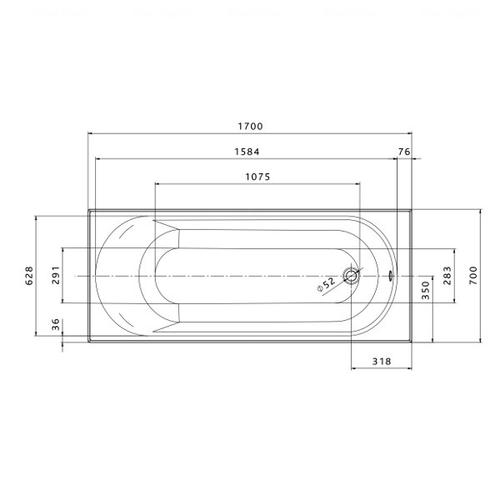 Ванна Kolo Opal Plus 170x70 см (XWP137000N)