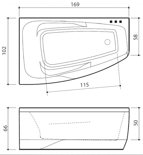 Ванна Balteco Orion 1690 мм простая (S1) простая (S1)