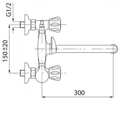 Смеситель для ванны и душа Potato P2454-6