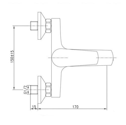 Смеситель для ванны и душа Potato P3009 хром хром