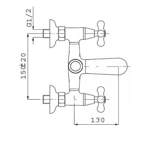 Смеситель для ванны и душа Potato P3060